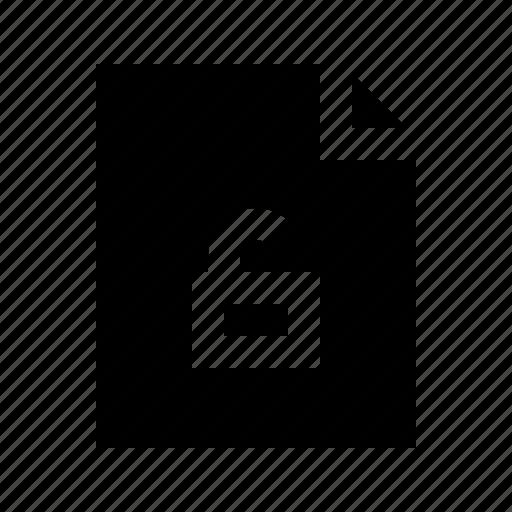 document, file, gui, unlocked, web icon