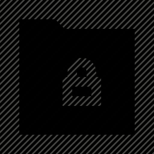 download, folder, gui, lock, web icon