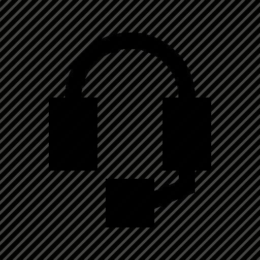 audio, gui, headset, music, web icon