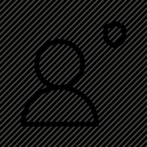 account, gui, profile, protect, user, web icon