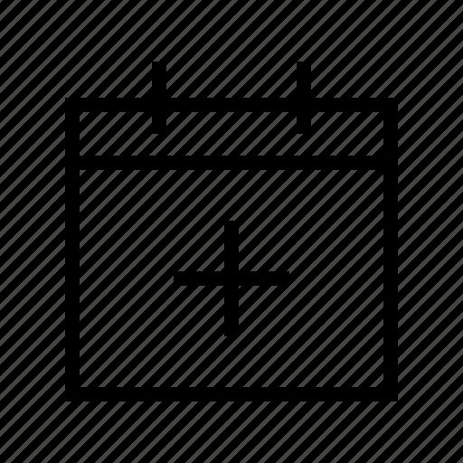 add, calendar, date, gui, schedule, web icon