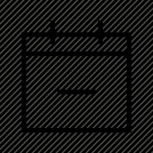 calendar, date, delete, gui, schedule, web icon