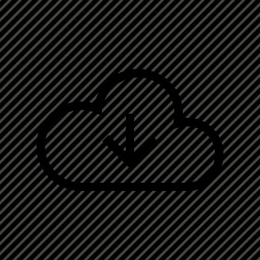 cloud, download, gui, network, transfers, web icon