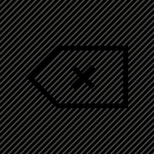 arrows, backspace, delete, gui, web icon