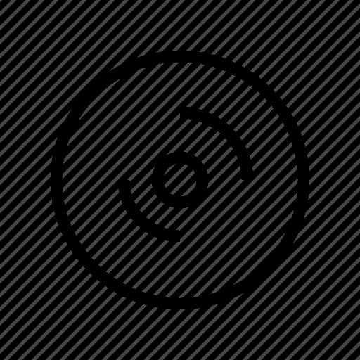 disc, gui, media, multimedia, music, recording, web icon