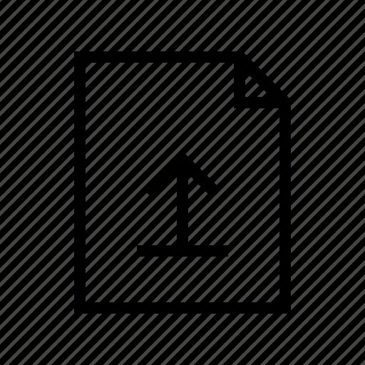 document, file, gui, upload, web icon