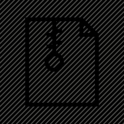 compress, document, file, gui, web, zip icon