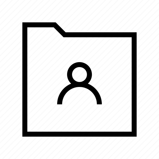 download, folder, gui, user, web icon