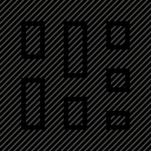 gallery, grid, gui, masonry, potfolio, web icon