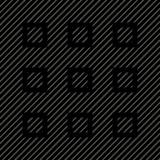 gallery, grid, gui, potfolio, small, web icon