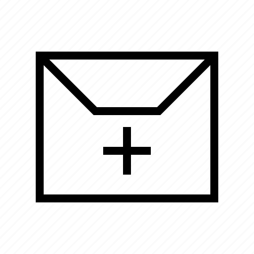 add, delivery, envelope, gui, mail, web icon