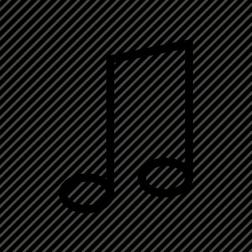 audio, gui, music, notes, web icon