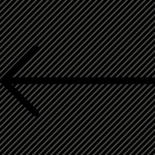 arrow, keyboard, left icon