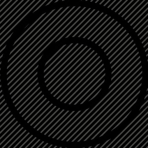 circle, controls, media, multi, multimedia, record icon