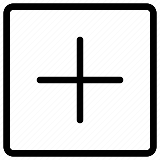 add, buttons, cross, plus, remove, square icon