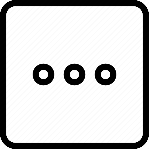 circle, frame, horizontal, menu, navigation, square icon