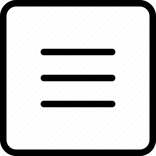 frame, lines, menu, navigation, parallel, square icon