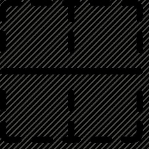 border, cell, center, format, formatting icon