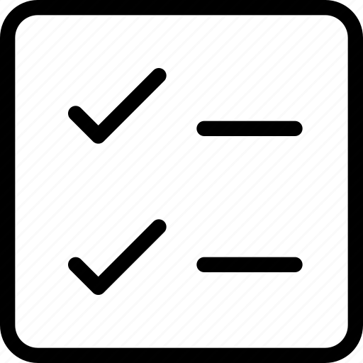 checklist, checkmark, edit, edition, form icon