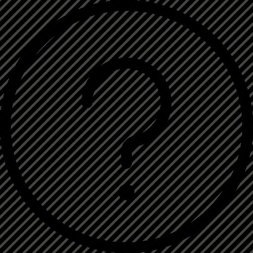 circle, faq, frame, help, mark, more, question icon