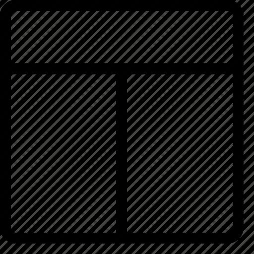 column, header, layout, layouts, masthead icon