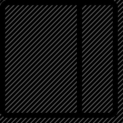 column, layout, layouts, right, sidebar icon
