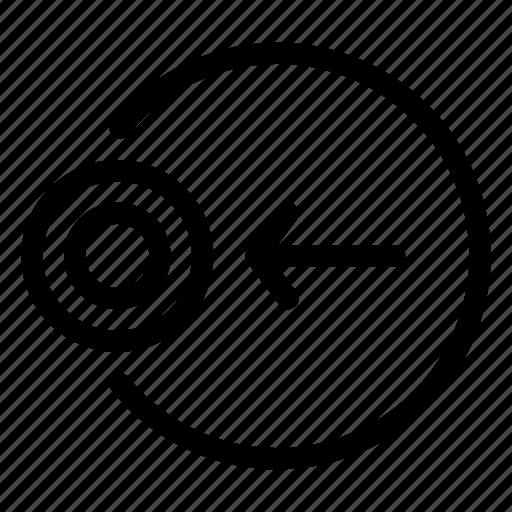 arrow, cursor, left, move, target icon
