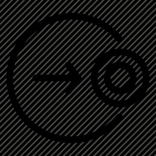 arrow, cursor, move, right, target icon