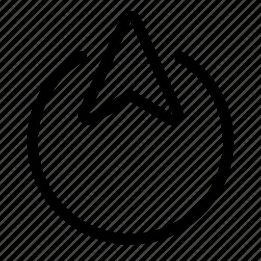 arrow, cursor, move, up icon