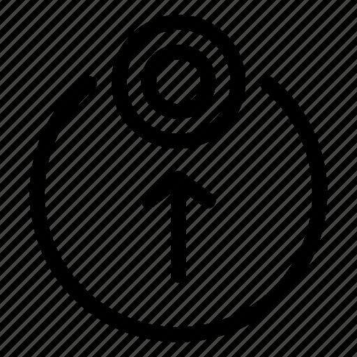 arrow, cursor, move, target, up icon
