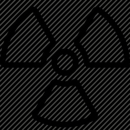 alert, danger, nuclear, nuke, radiation, radioactive, warning icon
