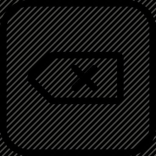 backspace, delete, keyboard icon