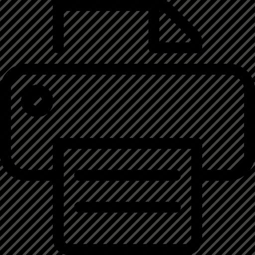 airprint, document, print, printer, text icon