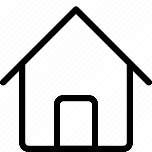 door, entrance, home, house, map, roof, square icon
