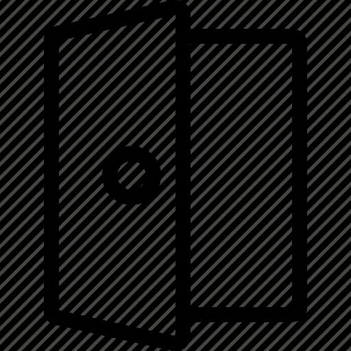door, enter, entry, entryway, exit, portal, rectangle icon