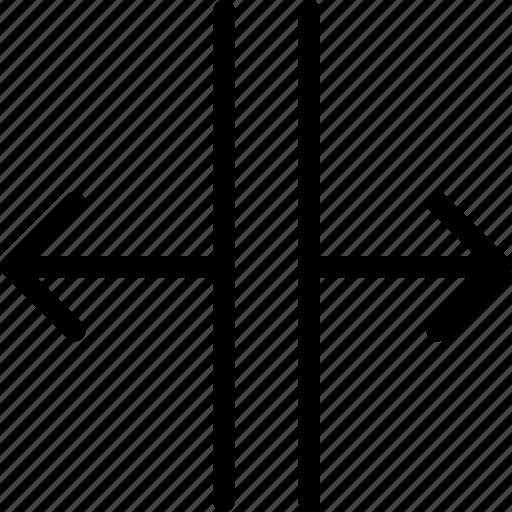 bigger, expand, horizontal, resize, size, small, smaller icon