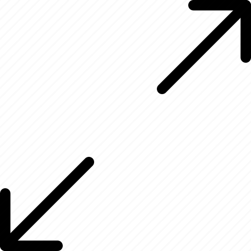 big, bigger, diagonal, expand, retract, small, smaller icon