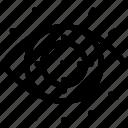 crosshairs, eyball, identification, iris, retina, secure, target icon