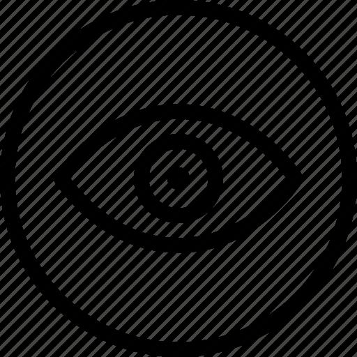 circle, eye, eyeball, open, view icon