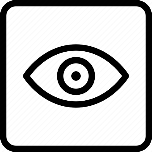 eye, eyeball, square, view icon