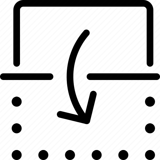 down, flip, reflect, vertical icon
