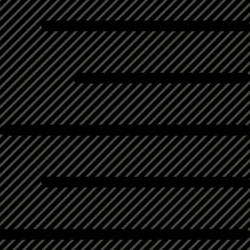 align, alignment, formatting, paragraph, rag, right, text icon