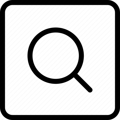 glass, magnifying, search, square icon