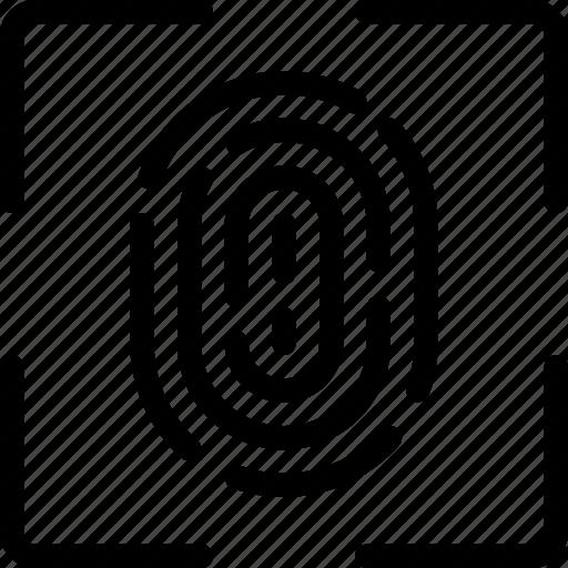 angle, finger, fingerprint, id, identification, password, secure icon