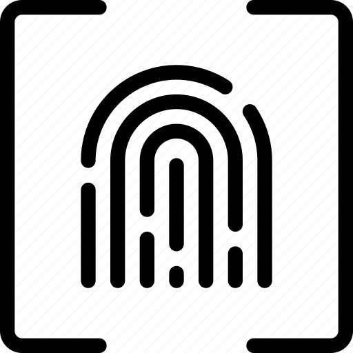 finger, fingerprint, id, identification, password, secure, touch icon