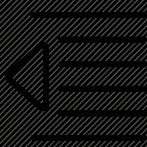 align, alignment, decrease, formatting, indent, paragraph, text icon