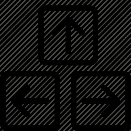 arrow, direction, keyboard, keys icon