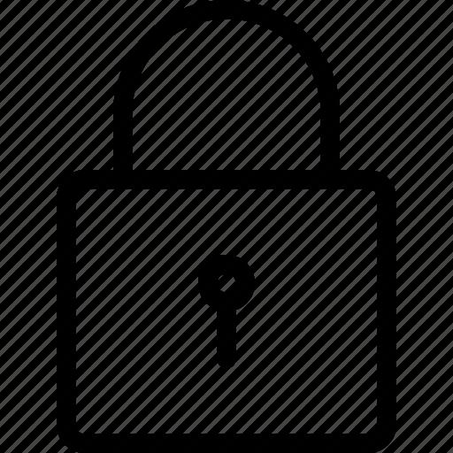 key, keyhole, lock, locked, padlock, secure, security icon