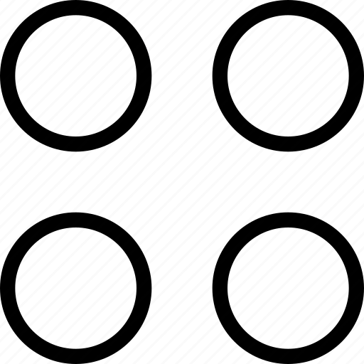 circle, corners, dashboard, dice, four, layout icon