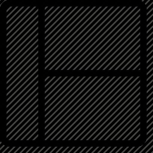 column, layout, layouts, left, sidebar icon